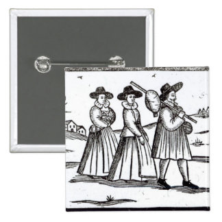 Pilgrims departing for the New World 15 Cm Square Badge
