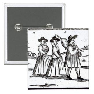 Pilgrims departing for the New World 15 Cm Square Badge