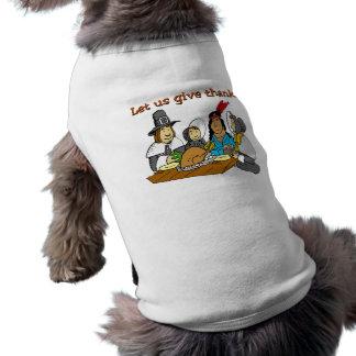 Pilgrims Give Thanks Pet Tshirt