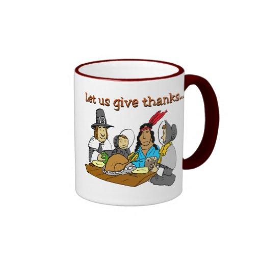 Pilgrims Give Thanks Mugs