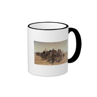 Pilgrims Going to Mecca, 1861 Ringer Coffee Mug