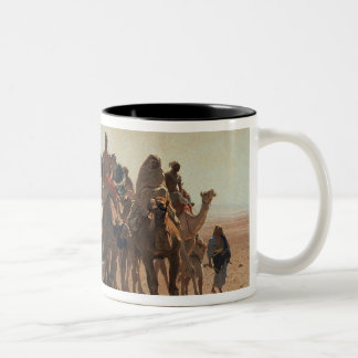 Pilgrims Going to Mecca, 1861 Two-Tone Mug