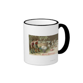 Pilgrims Pointing out Easter Eggs Mugs
