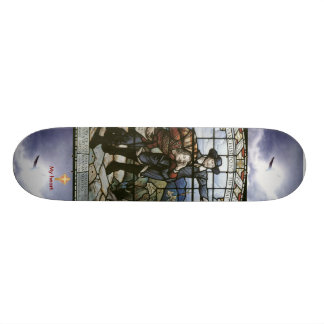 Pilgrims Progress (Cross my heart) 21.6 Cm Old School Skateboard Deck