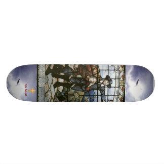 Pilgrims Progress Cross my heart Custom Skateboard