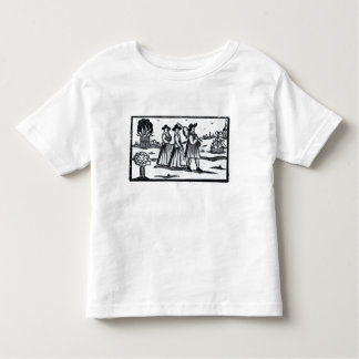 Pilgrims set sail on the Mayflower Toddler T-Shirt