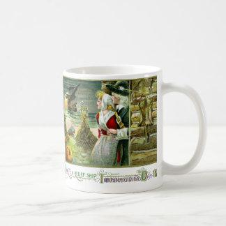 Pilgrim's Thanksgiving of 1620 Basic White Mug