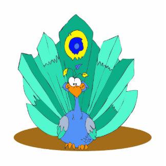 Pili Peacock Standing Photo Sculpture