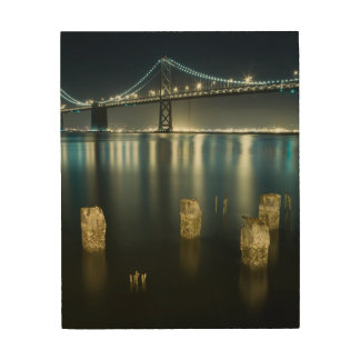 Pilings along the Embarcadero, San Francisco Wood Print