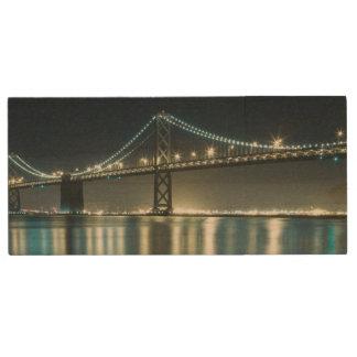 Pilings along the Embarcadero, San Francisco Wood USB Flash Drive