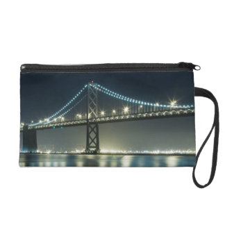Pilings along the Embarcadero, San Francisco Wristlet Clutch