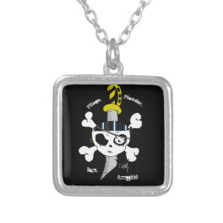 Pillage Plunder Burn Personalized Necklace