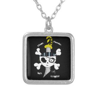 Pillage Plunder Burn Personalized Necklace