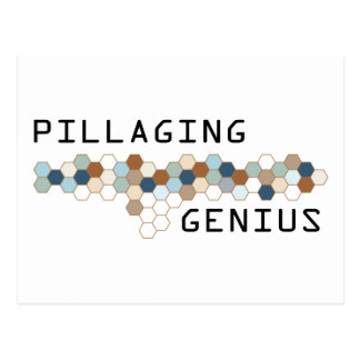 Pillaging Genius Postcard