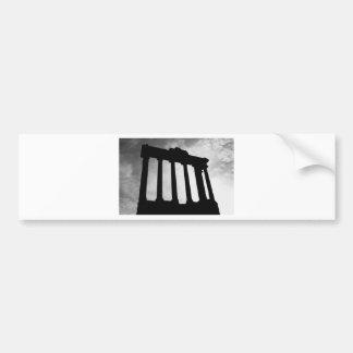 Pillar Silhouette Bumper Sticker