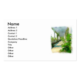 PILLARS AS A PAINTING PACK OF STANDARD BUSINESS CARDS