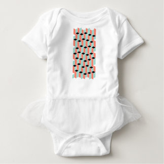 Pillars of Coral, Mint, and Black Baby Bodysuit