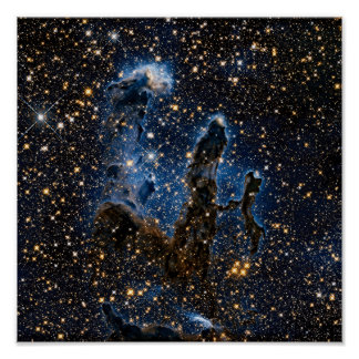 Pillars Of Creation Eagle Nebula Near Infrared Poster
