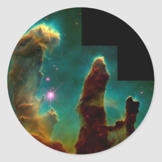 Pillars of Creation - Hubble Space Telescope Image Classic Round Sticker