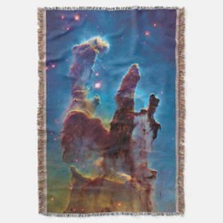 Pillars of Creation M16 Eagle Nebula Space Photo Throw Blanket