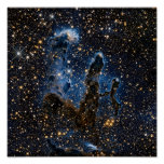 Pillars Of Creation Near-Infrared Posters
