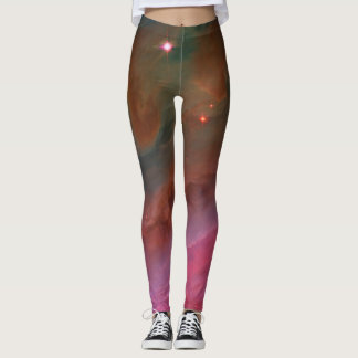 Pillars of Dust in Orion Nebula outer space image Leggings