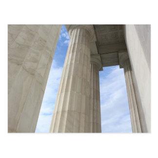 Pillars Surrounding the Lincoln Memorial Postcard