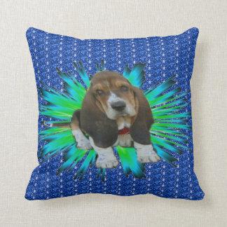 Pillow Baby Basset Hound Sheldon Throw Cushion
