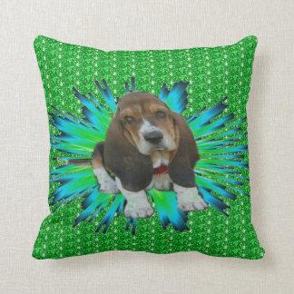 Pillow Baby Basset Hound Sheldon Throw Cushions