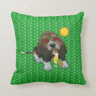 Pillow Baby Basset Hound Summer Time Cushion