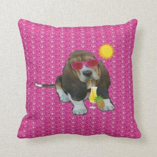 Pillow Baby Basset Hound Summer Time Cushion