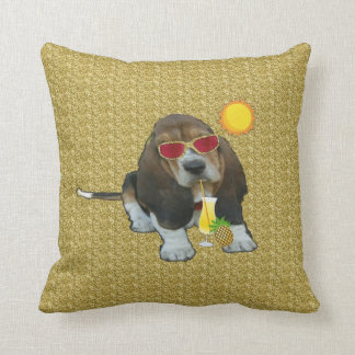 Pillow Baby Basset Hound Summer Time Cushions