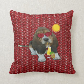 Pillow Baby Basset Hound Summer Time Throw Cushions
