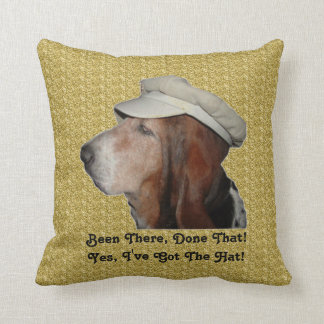 Pillow Basset Hound Been There Done That Cushion