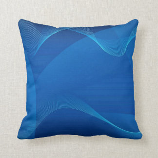 Pillow blue abstract 1