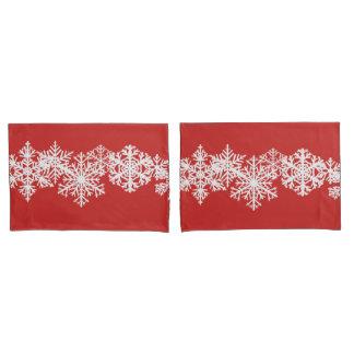 Pillow Case Set-Christmas Snowflakes