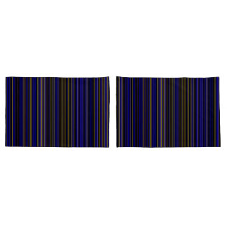 pillow cases Retro stripe purple yellow blue brown