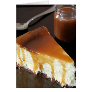 Pillow Cheesecake and Salted Butter Caramel Sauce Greeting Card