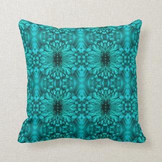 Pillow - Chrysanthemum Aqua Kaleidoscopic