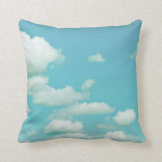 pillow clouds in blue sky photography