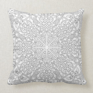 Pillow cover featuring line drawing