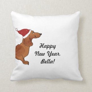 Pillow dachshund happy new year bella