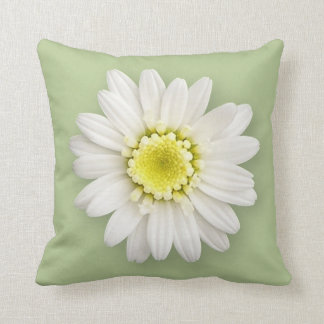 Pillow - Daisy on Green/Basketweave Throw Cushions