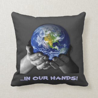 PILLOW- EARTH HANDS CUSHIONS