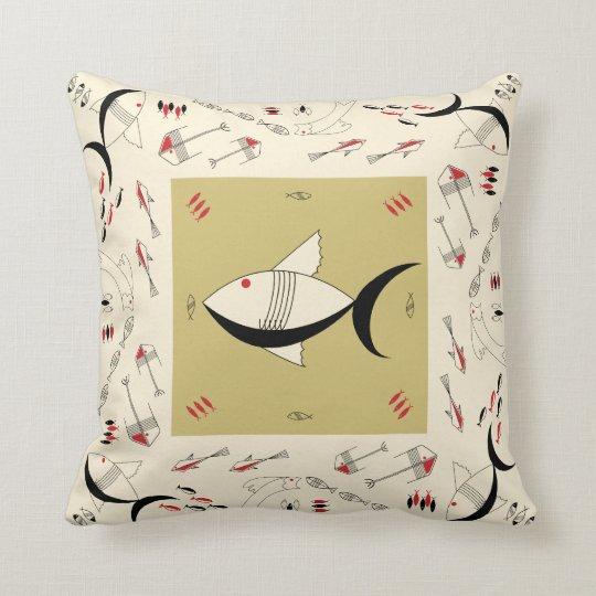 Pillow FABULOUS 1950s FISH Retro Vintage 200COLORS