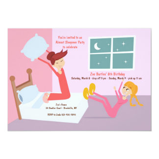 Pillow Fight Slumber Party Invitation