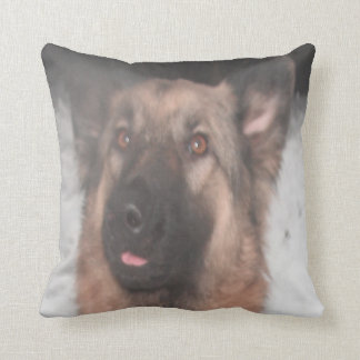 Pillow German Shepherd Sticking Tongue Out Throw Cushions