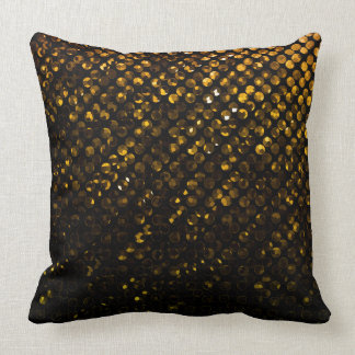 Pillow Gold Crystal Bling Strass