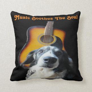 Pillow Guitar Dog Throw Cushions
