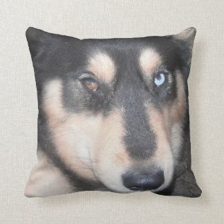 Pillow Husky One Brown Eye One Blue Eye Throw Cushions